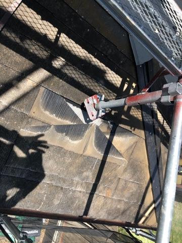 下屋根補修工事②