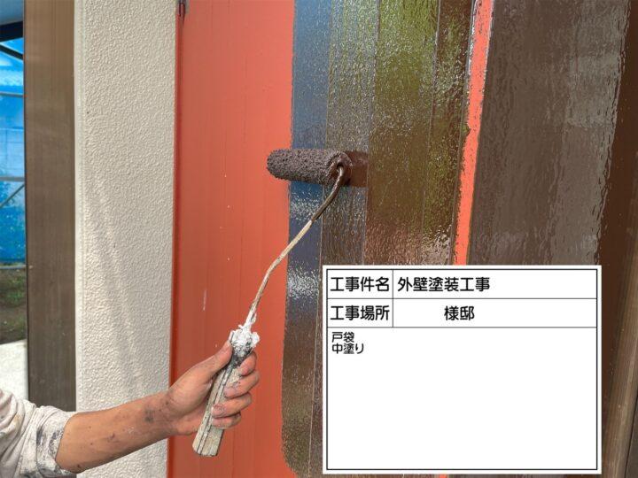 戸袋塗装③