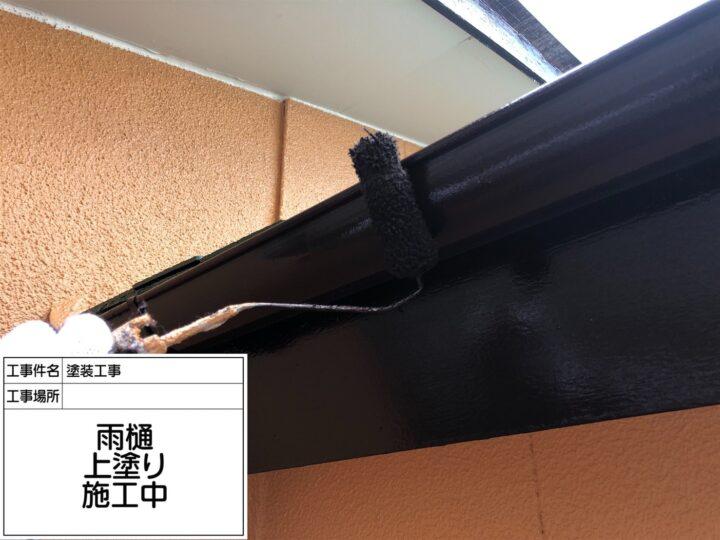 軒樋塗装③