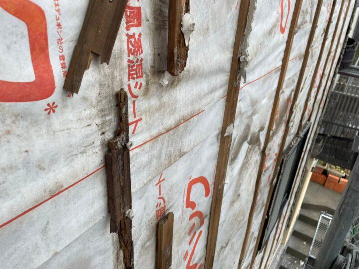 外壁張り替え工事①