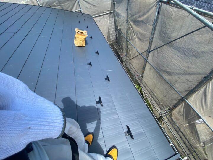 屋根重ね葺き工事⑥