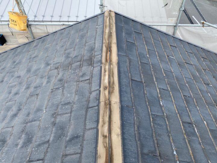 屋根重ね葺き工事①